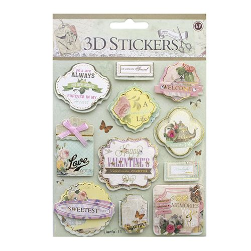 24378 Наклейки 3D 'Stickers', арт. lianfa-AI-11