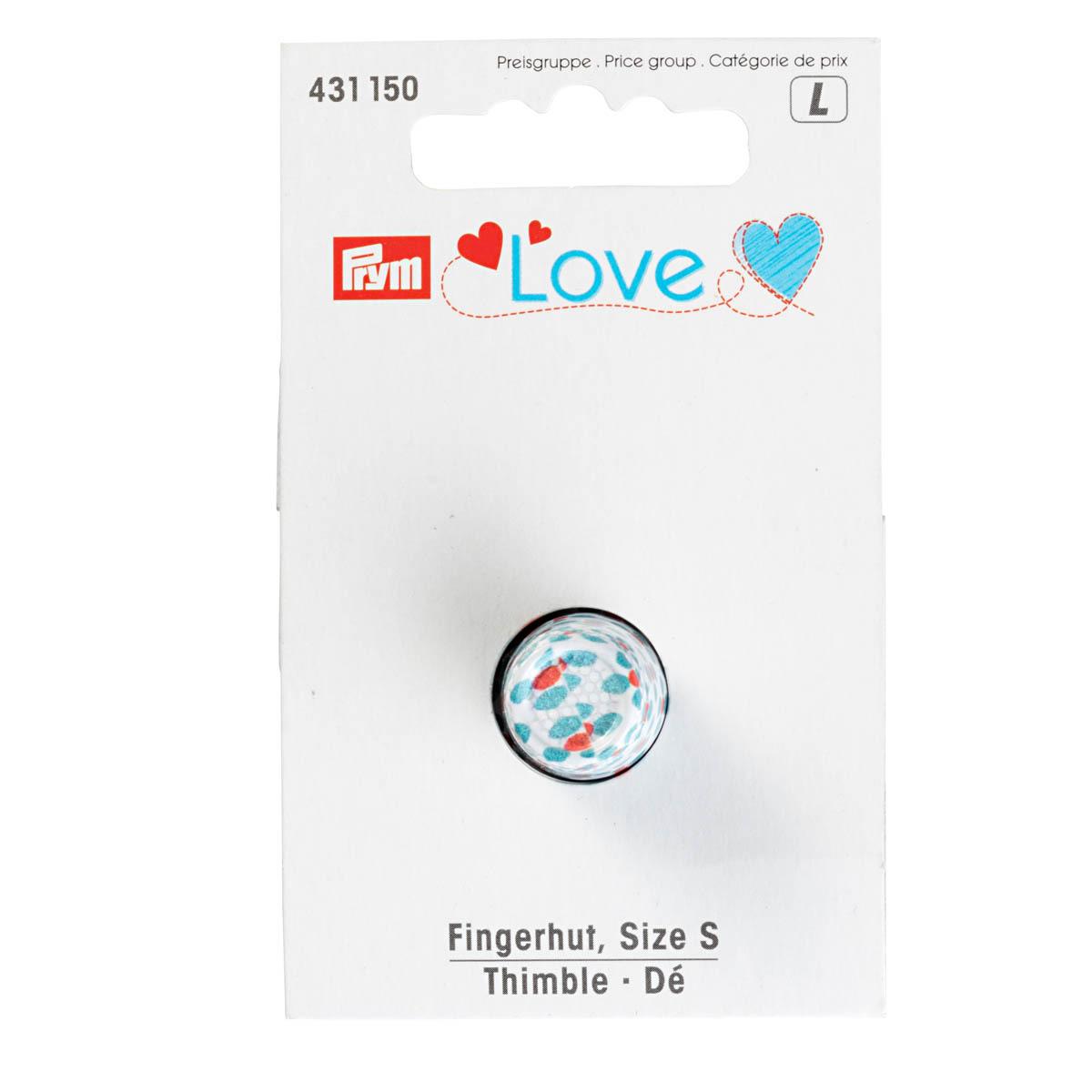 431150 Напёрсток Prym Love, размер S, металл, цветной Prym