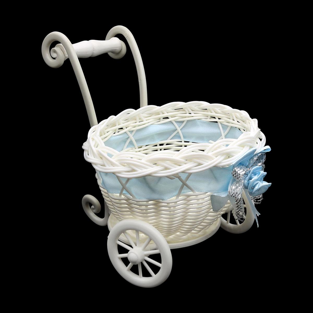 2AR116 Плетеная колясочка 12*15 см