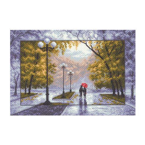 1412 Канва с рисунком 'Матренин посад' 'Осень', 37*49 см