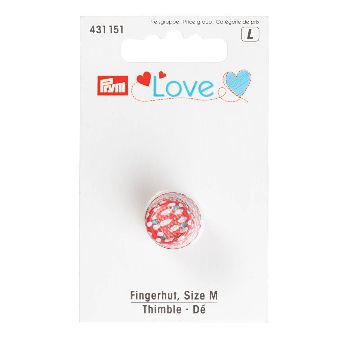 431151 Напёрсток Prym Love, размер M, металл, цветной Prym