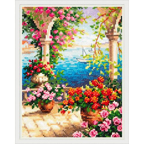 48-10 Набор для вышивания Чудесная игла 'Цветочный бриз'15*20 см
