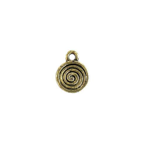 3400, Подвеска декоративная 'Спираль', 10,5мм, 50 шт