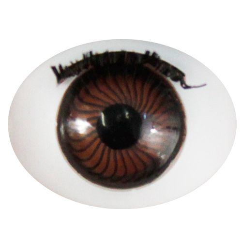 Глаза с ресничками овальные 16*21мм, 4 шт/упак