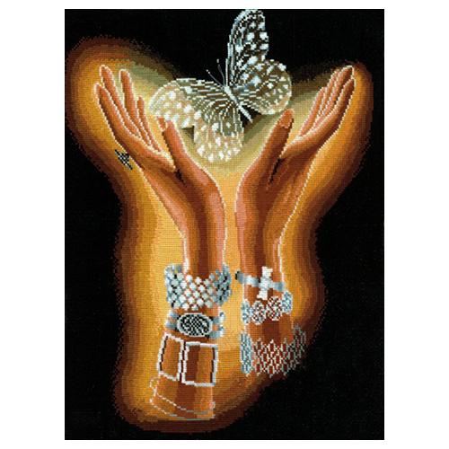 Х-04 Набор для вышивания 'Хрустальная бабочка', 31*40 см