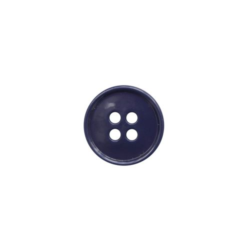 КЛ17-4 Пуговица 4 пр., т. синий, 17 мм