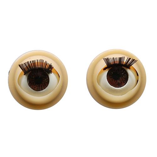 808# Глаза с ресничками, моргающие, 0,9см, 4 шт/упак