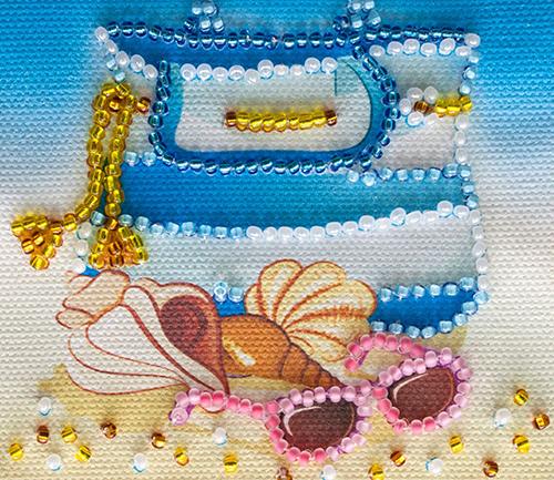 АМА-003 Набор-магнит для вышивания 'Абрис Арт' 'На пляже', 8*7 см