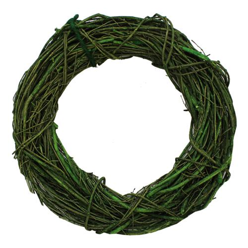 ZG14009A Венок декоративный плетеный, 33см, цв. зеленый