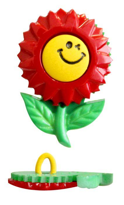 Пуговица, Цветок со смайлом (48378) 26мм