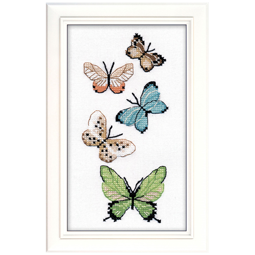 1076 Набор для вышивания ОВЕН 'Бабочки' 17х8см