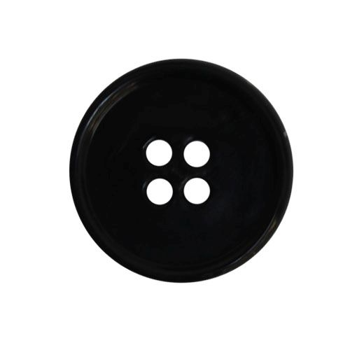 КЛ20-4 Пуговица 20мм, 4пр, ПП, черный