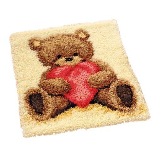 0011093-PN Коврик (ковровая техника) Vervaco 'Медвежонок' 55x60 см