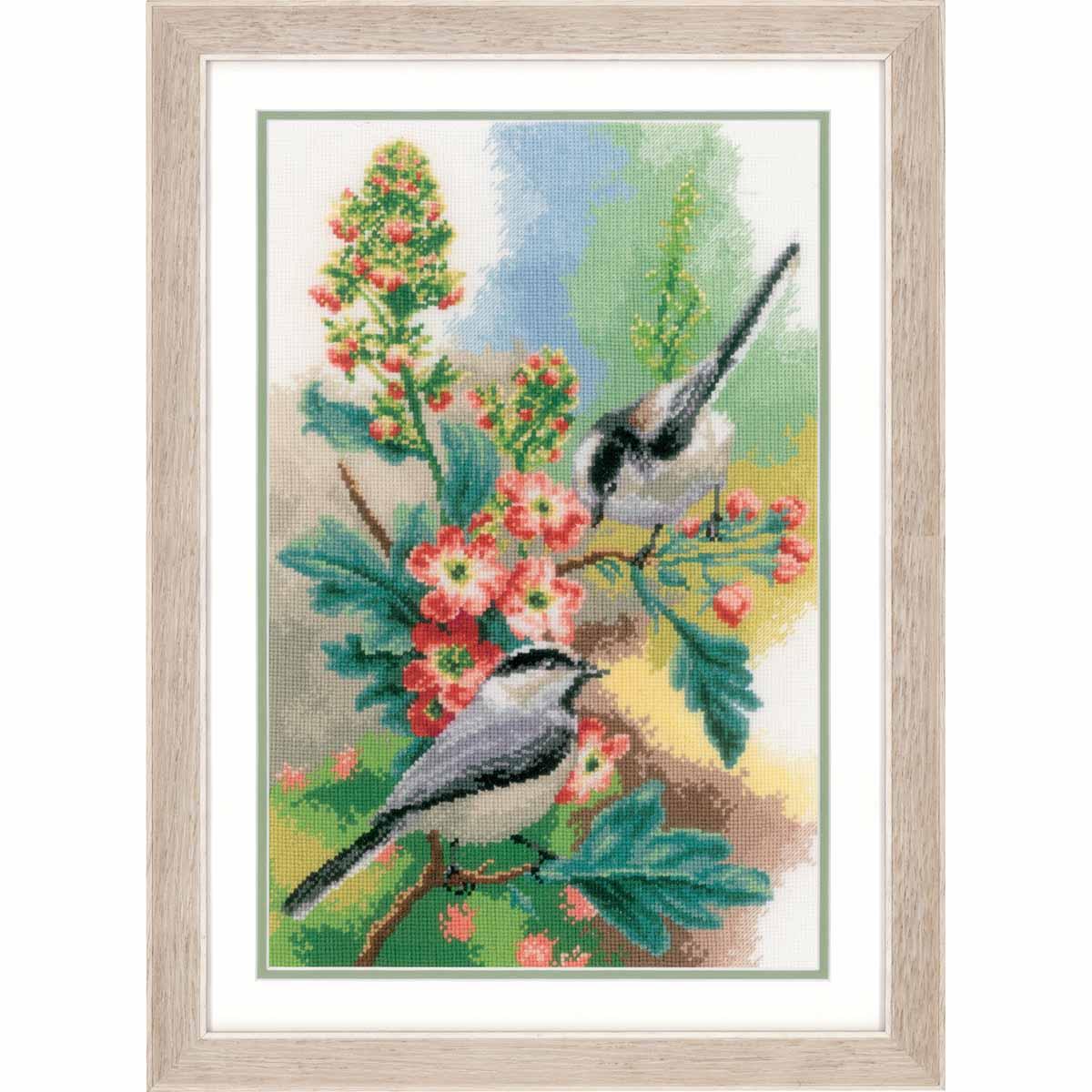 PN-0163024 Набор для вышивания Vervaco 'Синицы и цветы' 24*38см