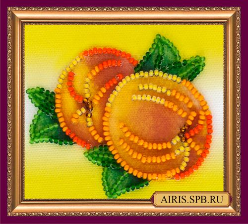 АМА-022 Набор-магнит для вышивания 'Абрис Арт' 'Спелые персики', 8*7 см