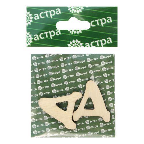L-229 Деревянная заготовка 'Буква Д', 30х27х4 мм, упак./2 шт., 'Астра'