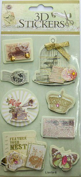 24359 Наклейки 3D 'Stickers', арт. lianfa-AH-6