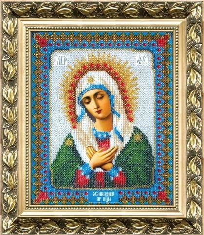 Б-1005 Набор для вышивания бисером 'Чарівна Мить' 'Икона Божьей Матери Умиление' 17,8*22,1 см