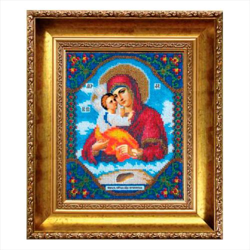 Б-1006 Набор для вышивания бисером 'Чарівна Мить' 'Икона Божьей Матери Почаевская', 17,2*21,6 см