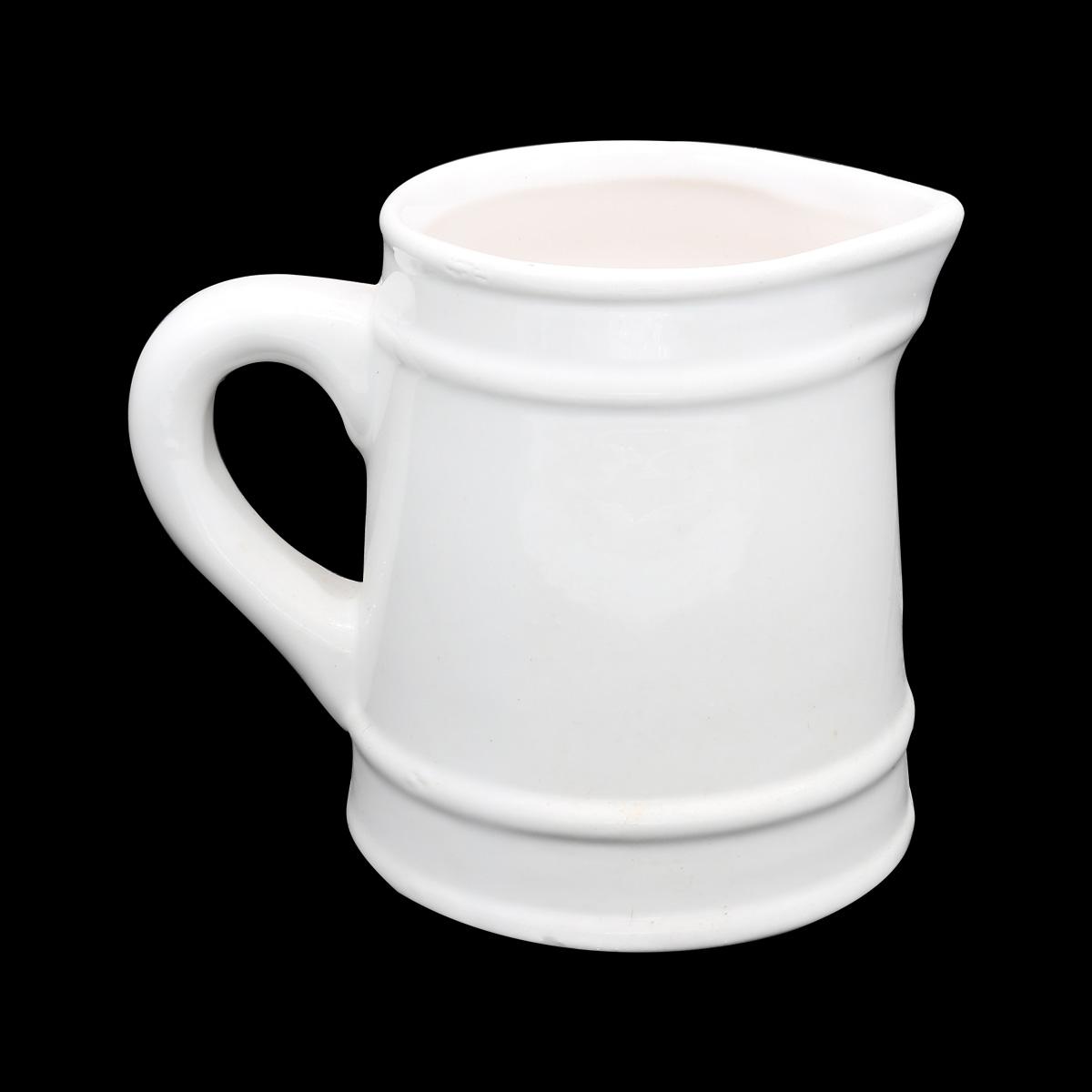 AR070 Кувшин керамический 6*7.5см, цв. белый