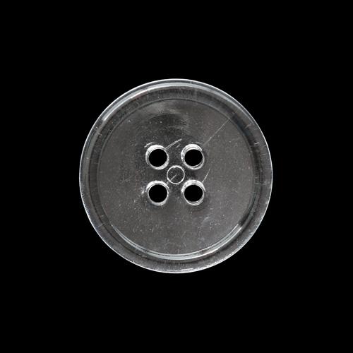 КЛ23-4 Пуговица 23мм, 4пр, ПС, прозр.стекло