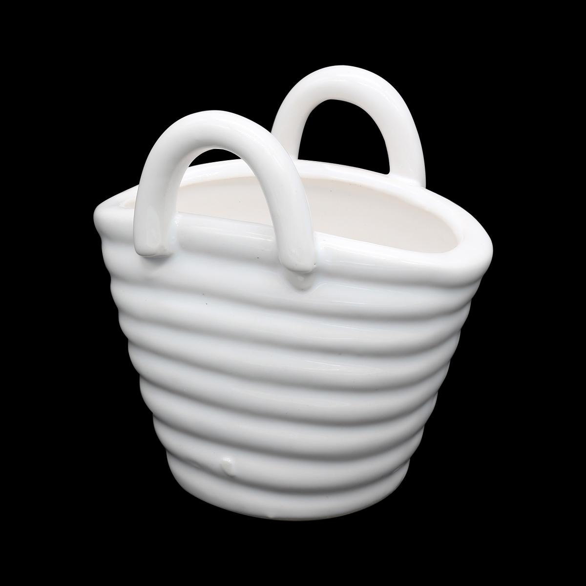 AR071 Корзинка керамическая 8*5,5*8см, цв. белый