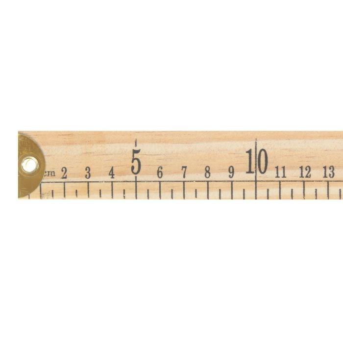 1217321 Метр деревянный, 1м, см/дюймы