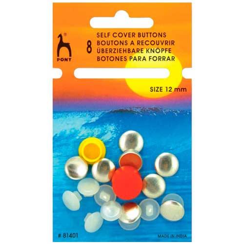 81401 Пуговицы для обтягивания тканью 12 мм, 8 шт PONY