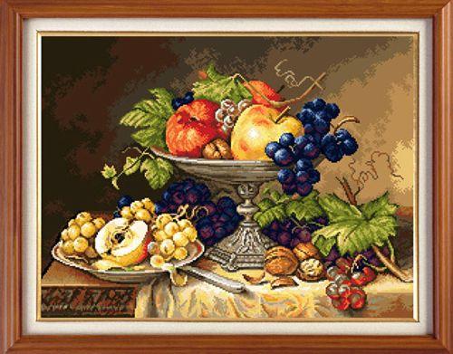 X-1007 Набор для вышивания Expressions 'Натюрморт с фруктами', 41х31 см