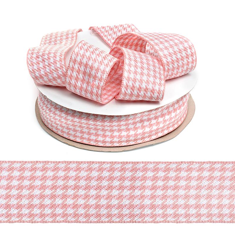 Тесьма TBY декоративная Гусиные лапки DT0344 шир.40мм цв.04 розовый уп.22,9м, TBYDT0344