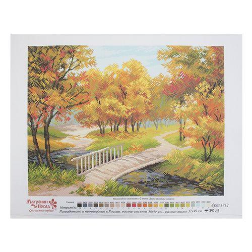 1712 Канва с рисунком 'Матренин Посад' 'Золотые краски', 37*49 см