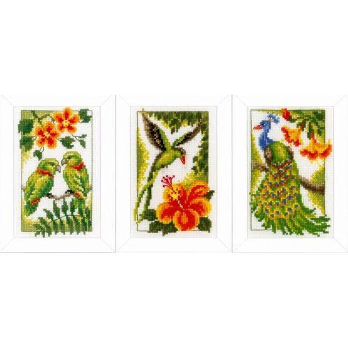 PN-0154071 Набор для вышивания Vervaco 'Экзотические птицы' 8x12см