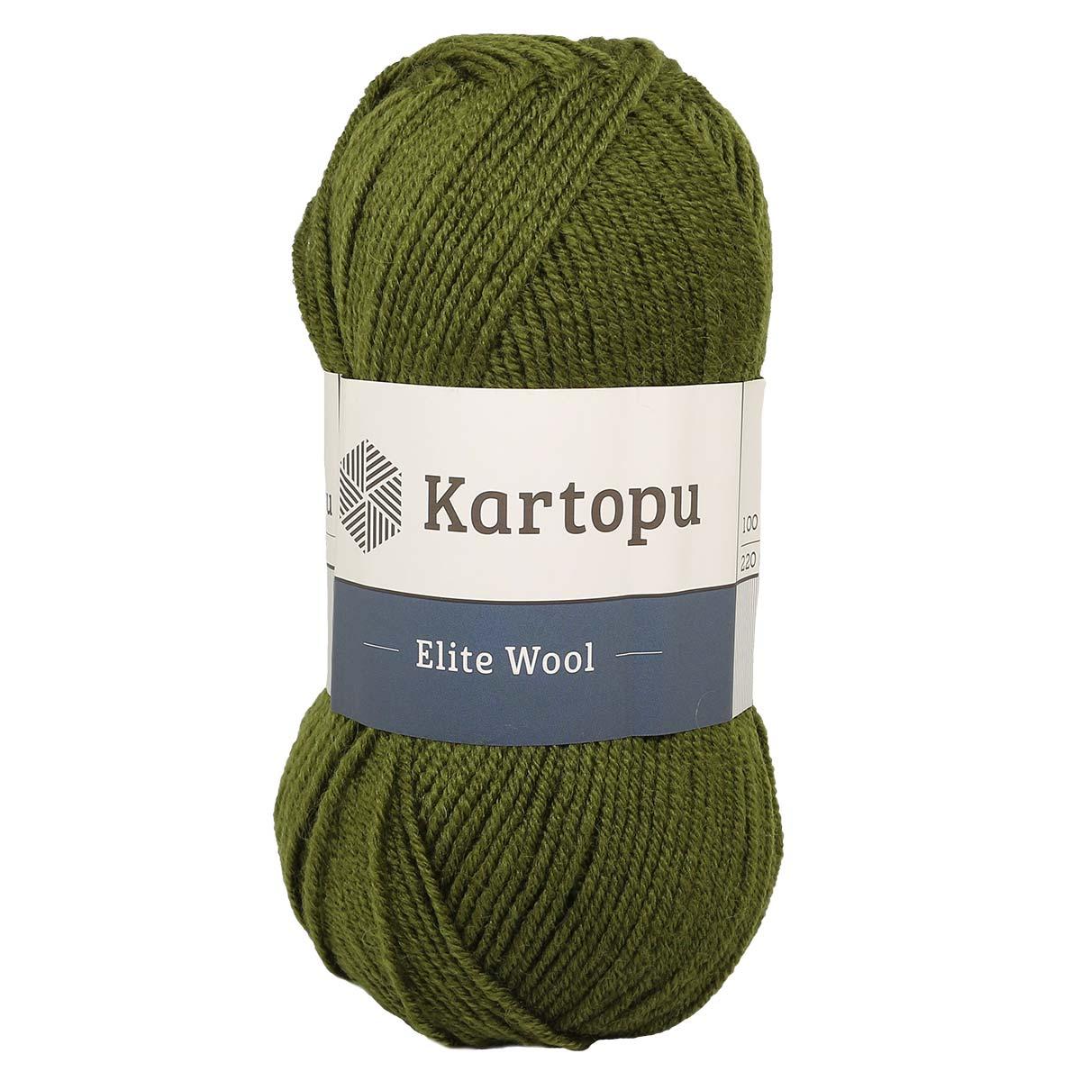 Пряжа KARTOPU 'Elite wool' 100г 220м (49% шерсть, 51% акрил)