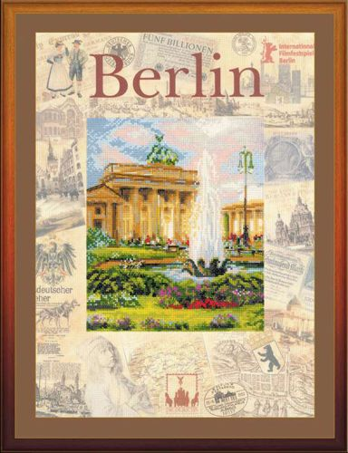 РТ-0027 Набор для вышивания Riolis 'Города мира. Берлин', 30*40 см