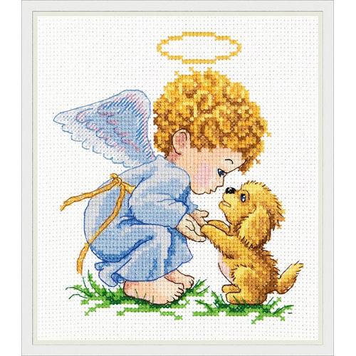 35-14 Набор для вышивания 'Чудесная игла' 'Мой добрый ангел!', 13*14 см