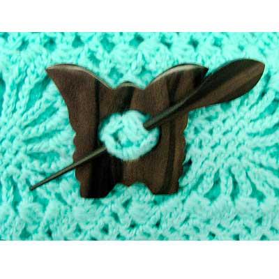 W22-01 MH COLLECTIONS Заколка декоративная (натуральный цвет) 7,0 см х 6,0 см