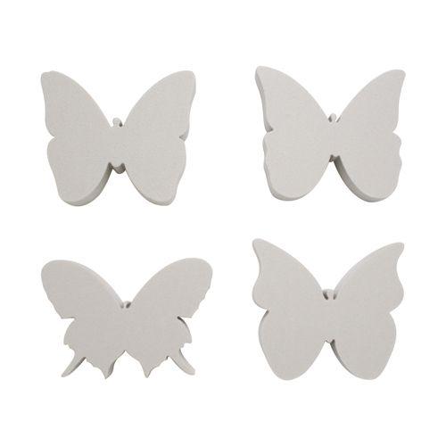 Набор фигурок из пенопласта 'Бабочки№2'(5шт),10см*2см
