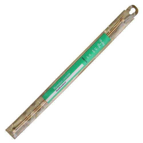 942220 Спицы прямые бамбук 35см, 2,0мм Hobby&Pro