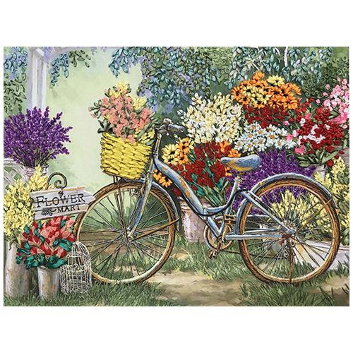 КЛ(н)-3002 Набор для вышивания лентами 'Цветы для любимой' 27*36см