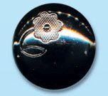 69637 Кнопка 5/22 ч.ник. мет.' 'сфера с цветком' '