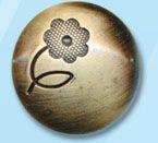 69638 Кнопка 5/22 лат. мет.' 'сфера с цветком' '