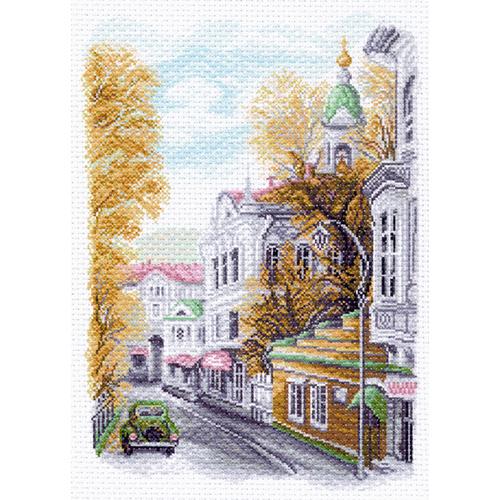 1556 Канва с рисунком 'Матренин посад' 'Яузский бульвар', 37*49 см