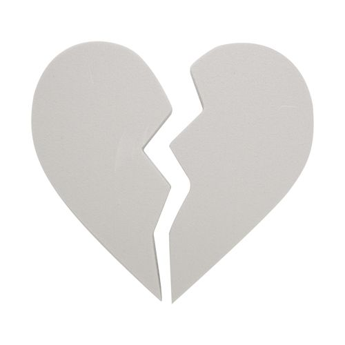 Набор фигурок из пенопласта 'Сердечко Две половинки',18*2см