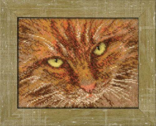 Б-063 Набор для вышивания бисером 'Чарівна Мить' 'Рыжий кот', 20,4*15,3 см