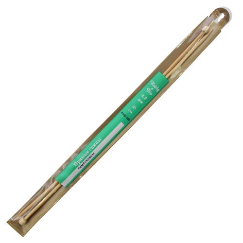 942240 Спицы прямые бамбук 35см, 4,0мм Hobby&Pro