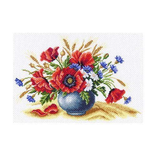 1560 Канва с рисунком 'Матренин Посад' 'Полевое соцветие', 37*49 см
