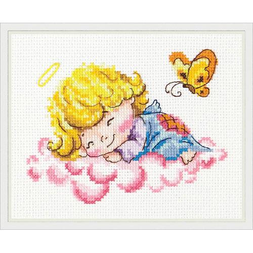 35-10 Набор для вышивания 'Чудесная игла' 'Милый ангелочек', 14*10 см