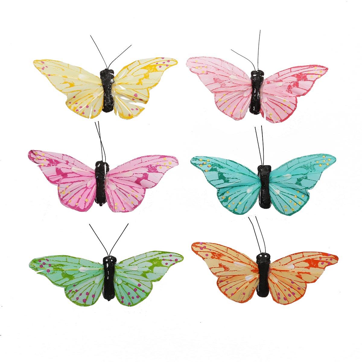 AR178 Бабочки 7см, 12шт