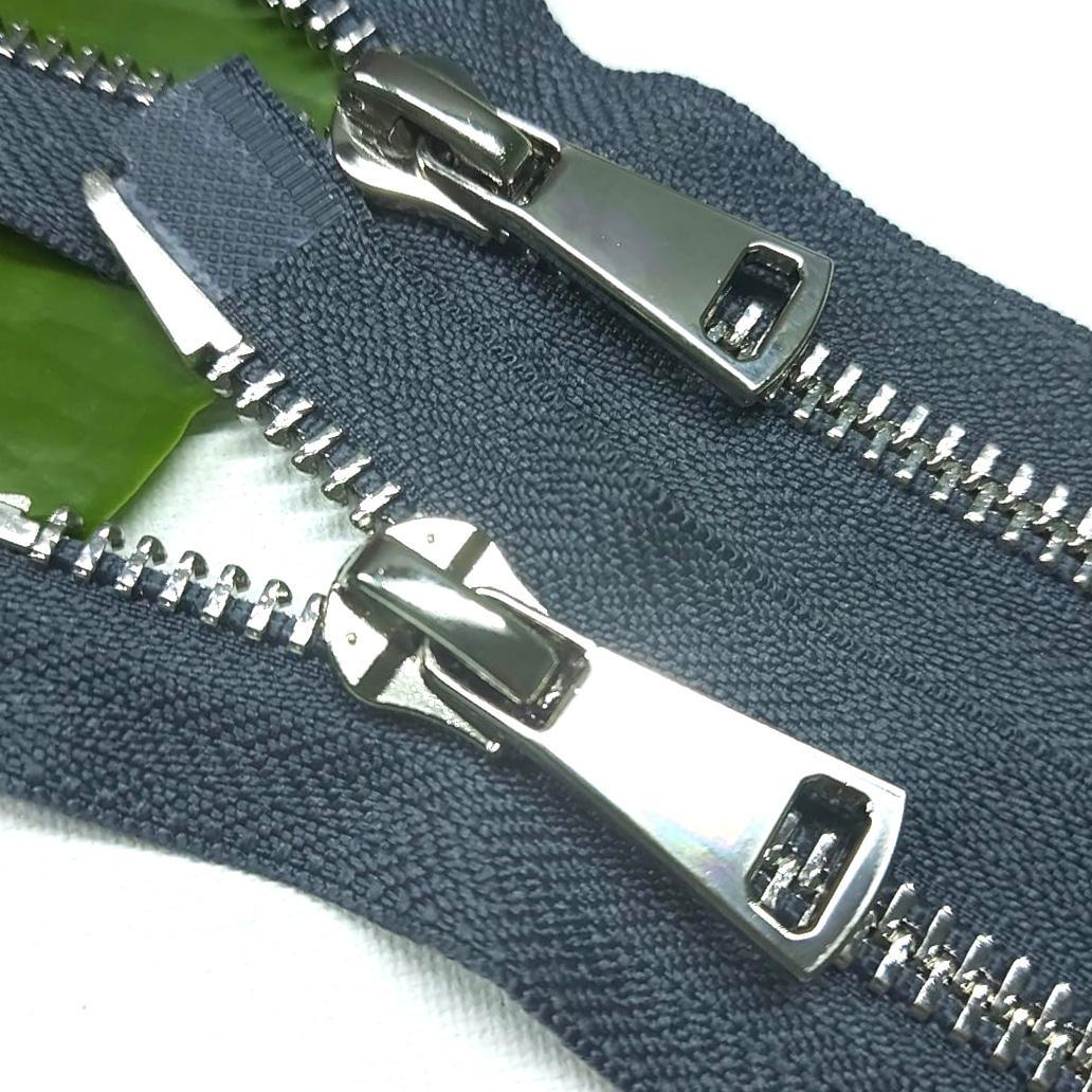 Молния металл №8ТТ никель два замка 85см D182 темно серый, 2002001720978