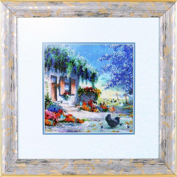 ВН1068 Набор для вышивания Alisena 'Цветочный домик', 20*20 см